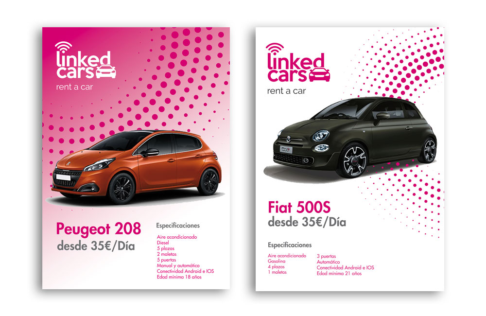 linked cars rent a car diseño
